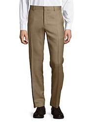 Ralph Lauren Anthony Glen Plaid Dress Pants Brown Tan