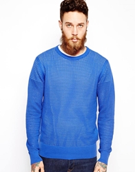 Ymc Knit Crew Jumper Blue