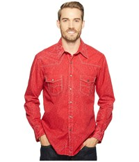 Rock And Roll Cowboy Long Sleeve Snap B2s2072 Red Men's Clothing