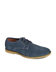 Frank Wright Chase Suede Derby Shoes Blue