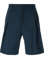 Alexander Wang Pleated Front Shorts Blue