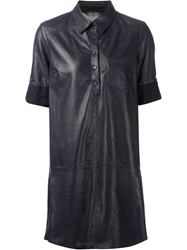 Band Of Outsiders Chest Pocket Shirt Dress Blue