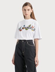 Palm Angels Butterfly College T Shirt White