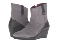 The North Face Bridgeton Wedge Zip Smoked Pearl Grey Deep Garnet Red Women's Lace Up Boots Gray
