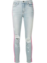 Amiri Contrast Side Stripe Jeans Blue