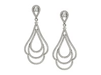 Nina Micro Pave Swirl Earrings Palladium Cz Earring Silver