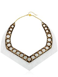 Anisha Parmar London Ivory Collection Mirror Necklace