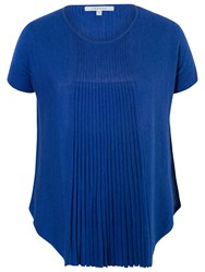 Chesca Short Sleeve Flared Top Royal Blue