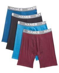 Hanes Men's 4 Pk. Platinum Comfort Flex Fit Boxer Briefs Assorted Colors