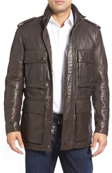 Andrew Marc New York 'Tompkins' Leather Field Jacket Espresso