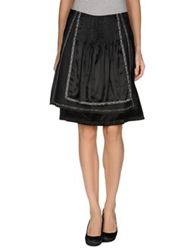 Luis Trenker Knee Length Skirts Black
