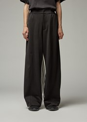 Y 3 Stripe Wide Track Pants Black