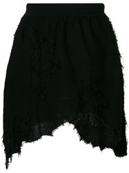 Alyx Destroyed Asymmetric Mini Skirt Black
