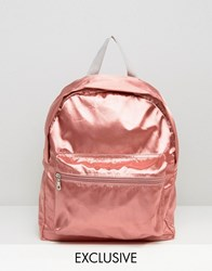 Reclaimed Vintage Pink Satin Backpack Pink