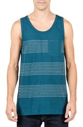 Volcom Men's Banded Stripe Tank Flight Blue