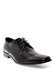 Steve Madden Hylife Patent Leather Lace Up Oxford Shoes Black Patent