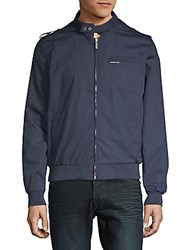 Members Only Classic Iconic Racer Jacket Navy