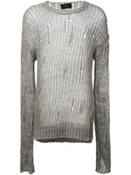 Lost And Found Ria Dunn Knitted Pullover Grey