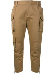 Dsquared2 Skinny Cropped Cargo Pants Brown