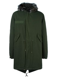 Mr And Mrs Italy Lined Hooded Coat Green