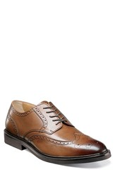 Florsheim Men's Hamilton Wingtip Cognac Leather