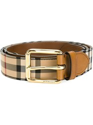 Burberry Horseferry Check Belt Nude And Neutrals