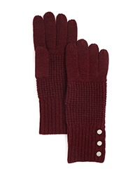 Michael Kors Waffle Stitch Gloves 100 Bloomingdale's Exclusive Merlot