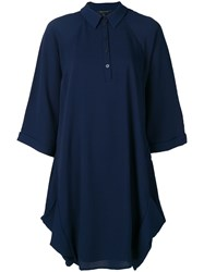 Armani Exchange Oversized Polo Dress Blue