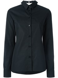 Maison Martin Margiela Collar Detail Long Sleeve Shirt Black