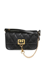 Givenchy Mini Pocket Quilted Leather Shoulder Bag Black