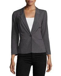 Kensie One Button Long Sleeve Blazer Dark Gray