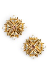 Badgley Mischka Women's Stud Earrings Gold