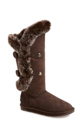 Women's Australia Luxe Collective 'Nordic Angel' Tall Boot With Genuine Rabbit Fur Trim And Genuine Shearling Lining Wide Calf