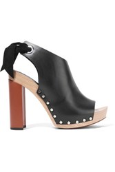 Proenza Schouler Leather Platform Sandals Black