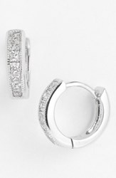 Women's Judith Jack Hoop Earrings Silver Cubic Zirconia