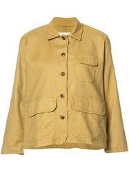 The Great Flared Sleeves Jacket Yellow Orange