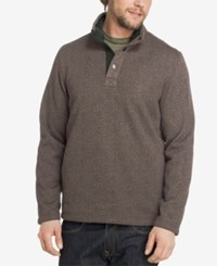 G.H. Bass And Co. Men's Snap Fleece Lined Pullover Griffin Heather