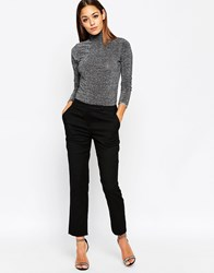 Asos Cigarette Trouser In Wool Black