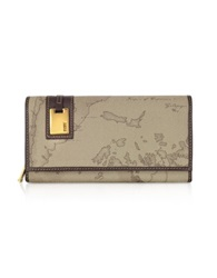 Alviero Martini Large Women's Medium Id Flap Wallet Taupe