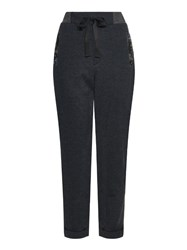 Muveil Embellished Pocket Wool Blend Trousers