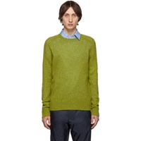 Prada Green Raglan Crewneck Sweater