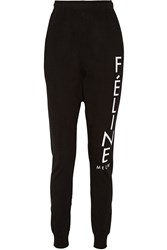 Brian Lichtenberg Feline Cotton Track Pants Black