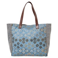 East Hand Embroidered Bag Blue
