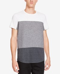Kenneth Cole New York Men's Palmetto Colorblocked T Shirt Charcoal