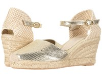David Tate Europa Gold Lizard Wedge Shoes