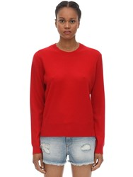 Zadig And Voltaire Crewneck Cashmere Knit Sweater Red
