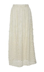 Co Sheer Pebbles Skirt White