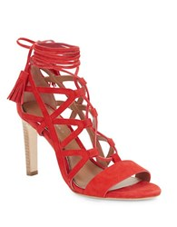 Elie Tahari Hurricane Cage Sandals Red