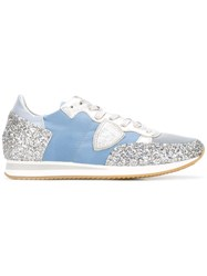 Philippe Model Glitter Sneakers Blue
