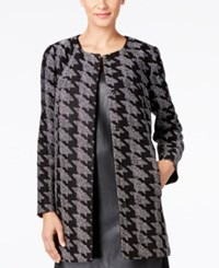 Alfani Prima Houndstooth Jacquard Jacket Only At Macy's Textured Houndstooth